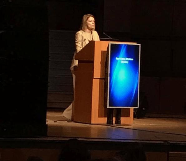Dra Paqui Molina en la intervención del Fetal Medicine Foundation