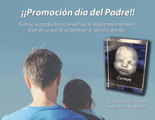 promoción ecografía 5D Día del Padre