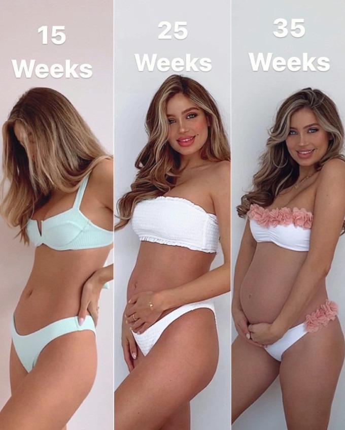 Transformación cuerpo embarazo